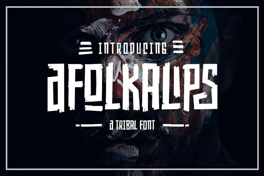 Afolkalips Display Font