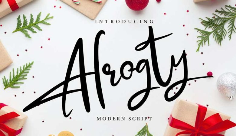 Alrogty - Modern Script Font