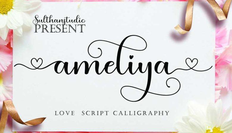 Ameliya Script Font