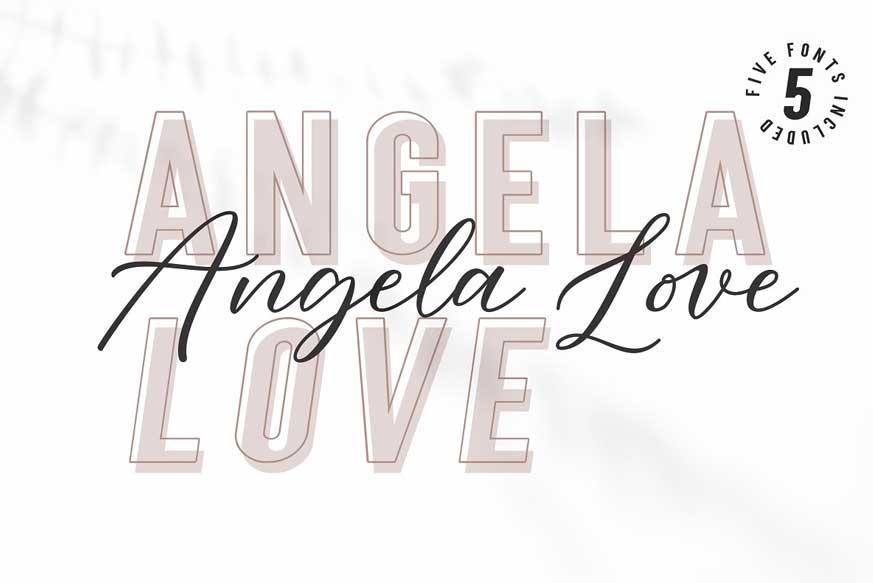 Angela Love Script & Sans