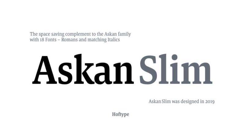 Askan Slim Font Family