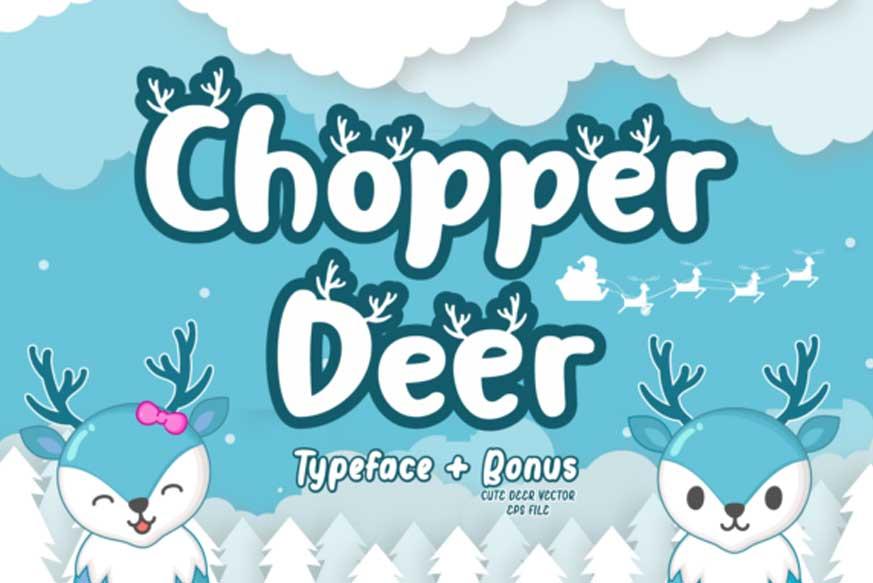 Chopper Deer Font