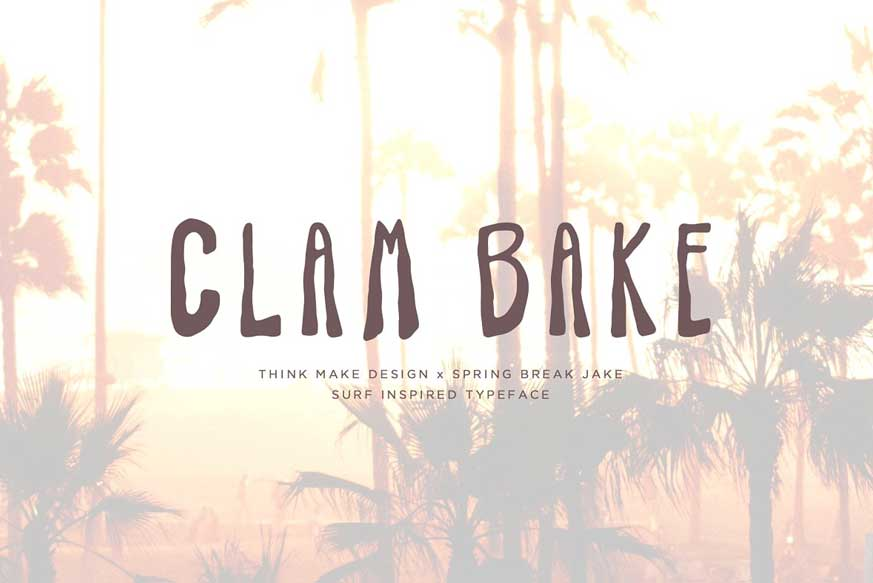 Clam Bake - Surf Font