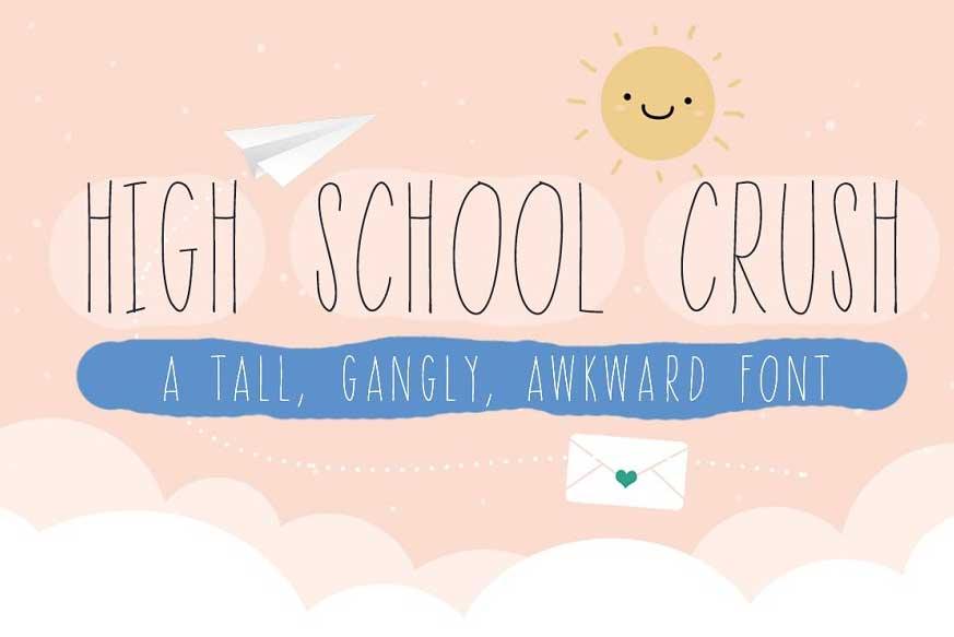 High School Crush Font