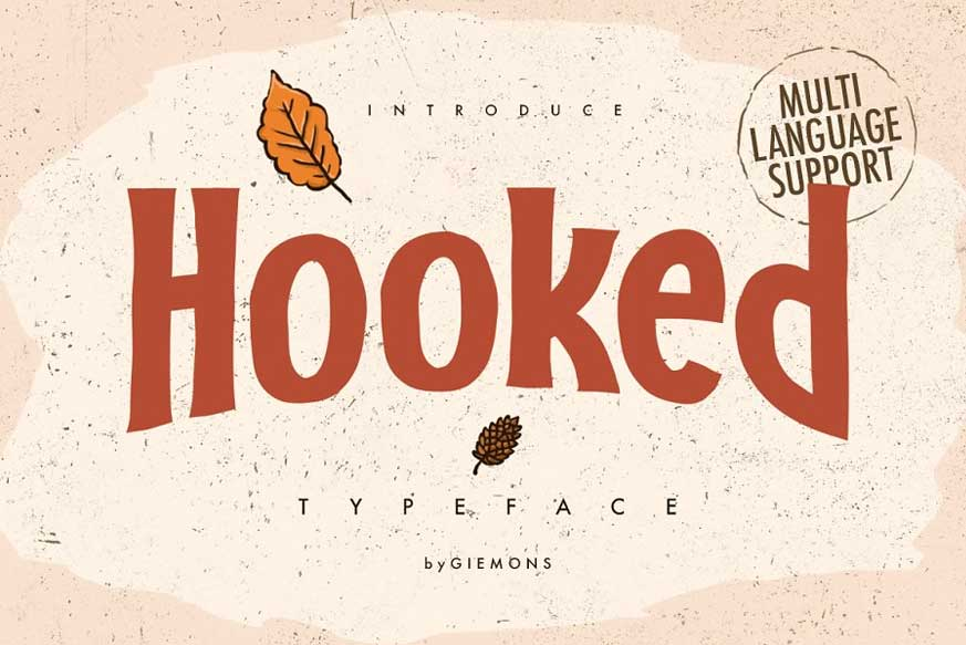 Hooked Typeface