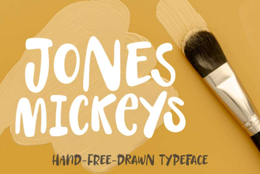 Jones Mickeys Font