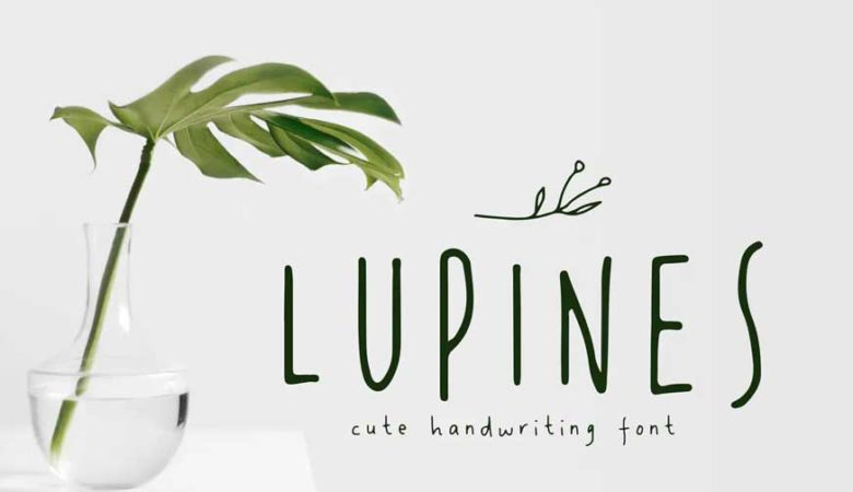 LUPINES - Cute Skinny Handwriting Font