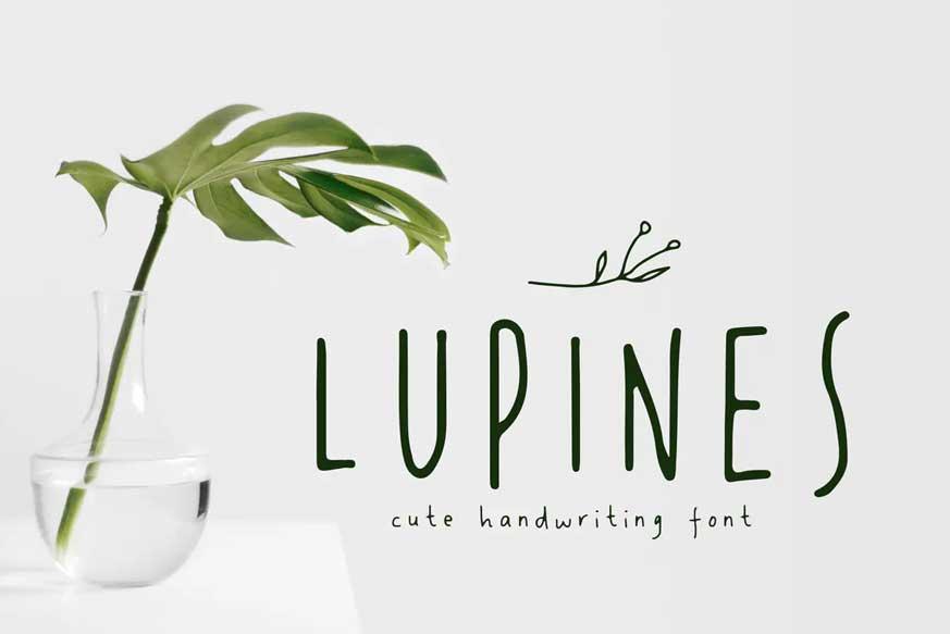 LUPINES - Cute Skinny Handwriting Font