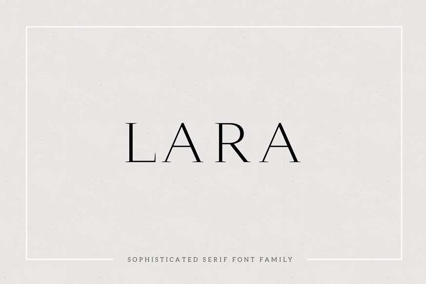 Lara Serif Typeface
