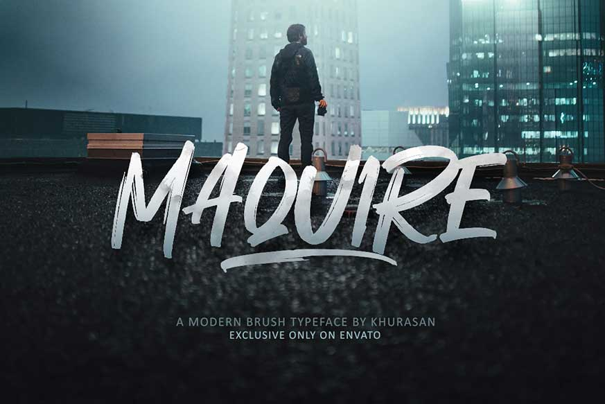 Maquire Brush Font