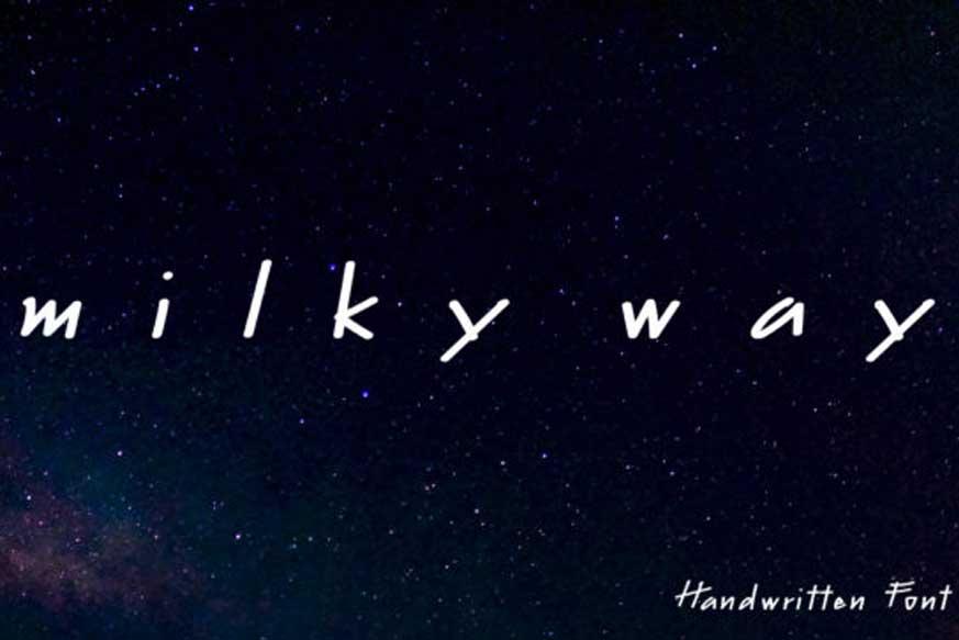 Milky Way Font