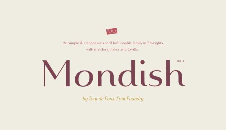 Mondish Font Family