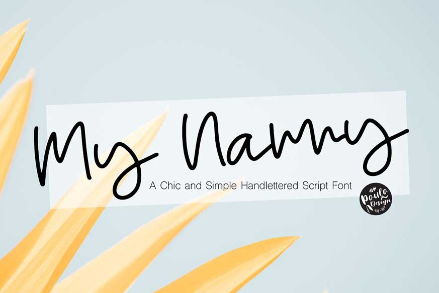 My Nanny - Chic Script Font
