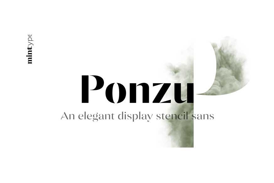 Ponzu Font Family