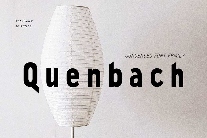 Quenbach Condensed Font Family