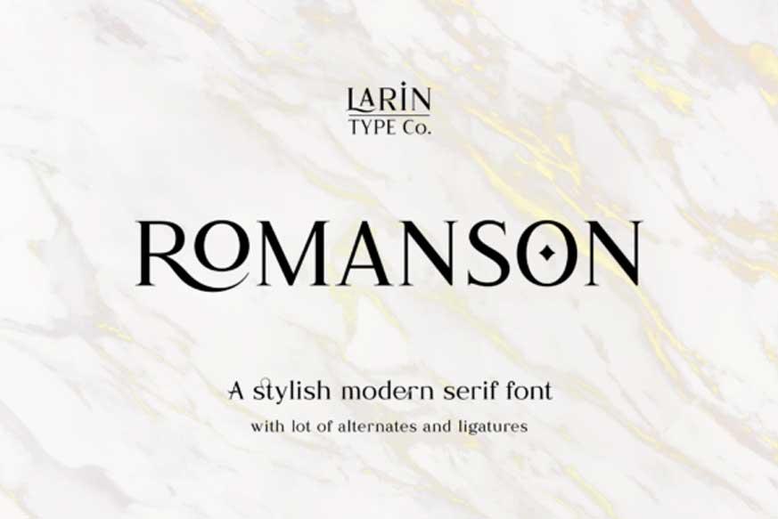 Romanson Font
