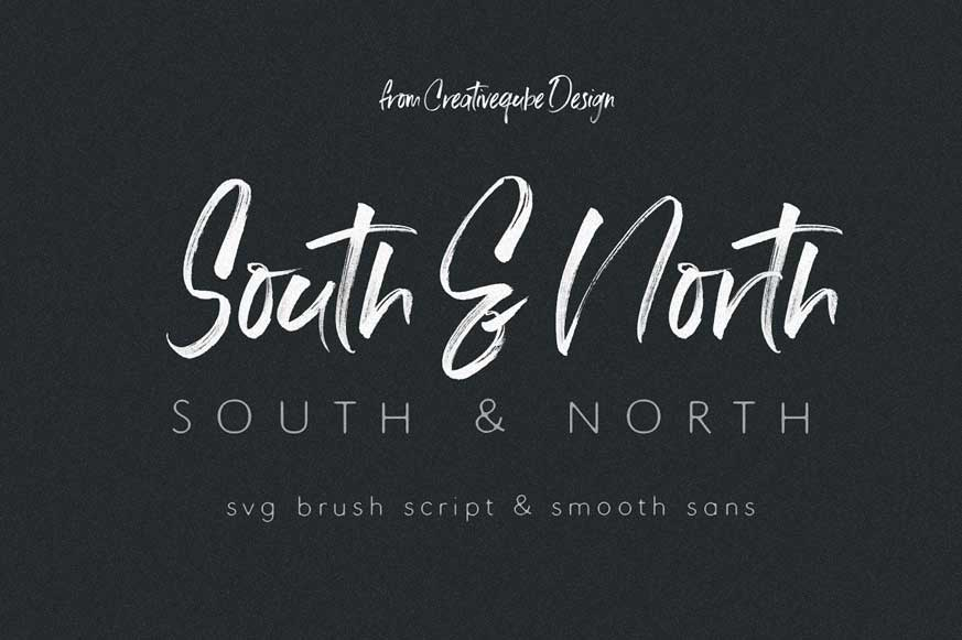South & North SVG Font Duo