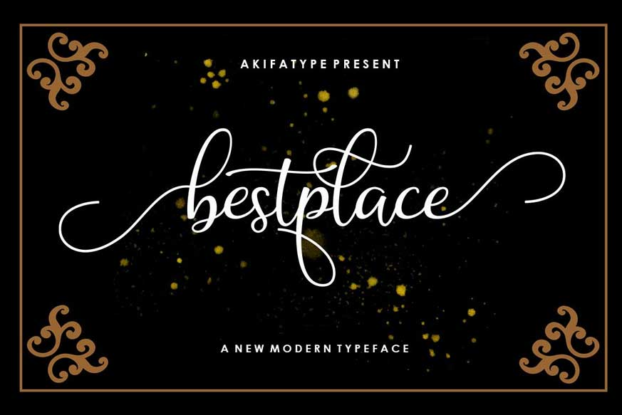 Bestplace Script Font