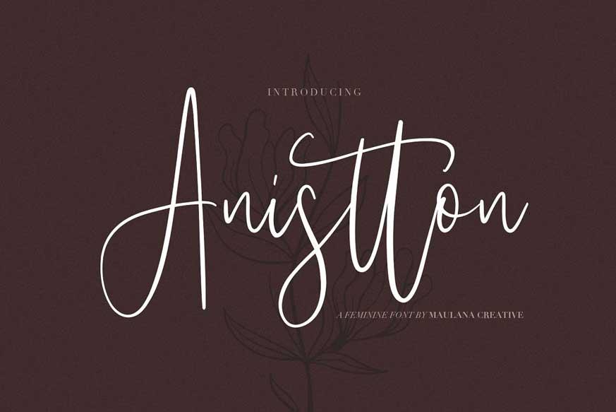 Anistton - Feminine Font
