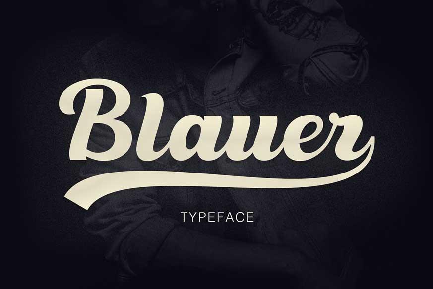 Blauer Font