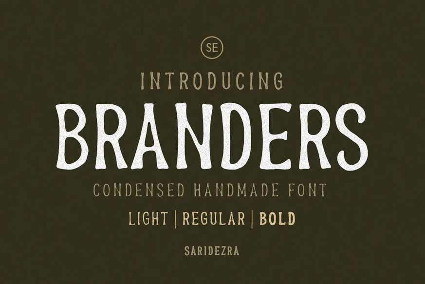 Branders - Condensed Handmade Font