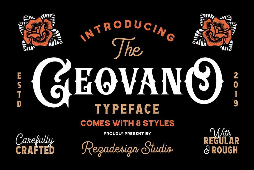 Geovano - Vintage Font Family