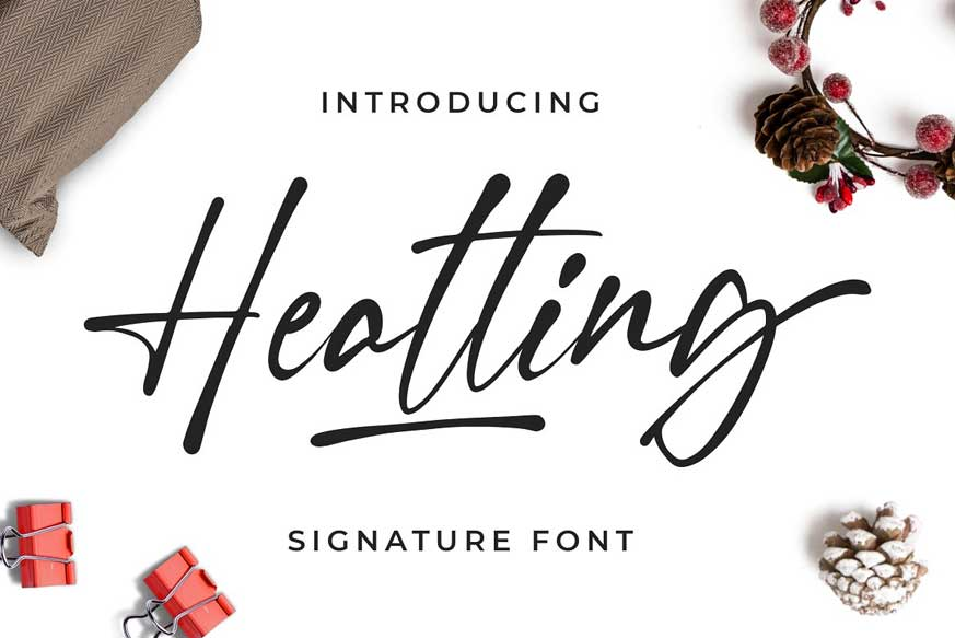 Heatting - Signature Font
