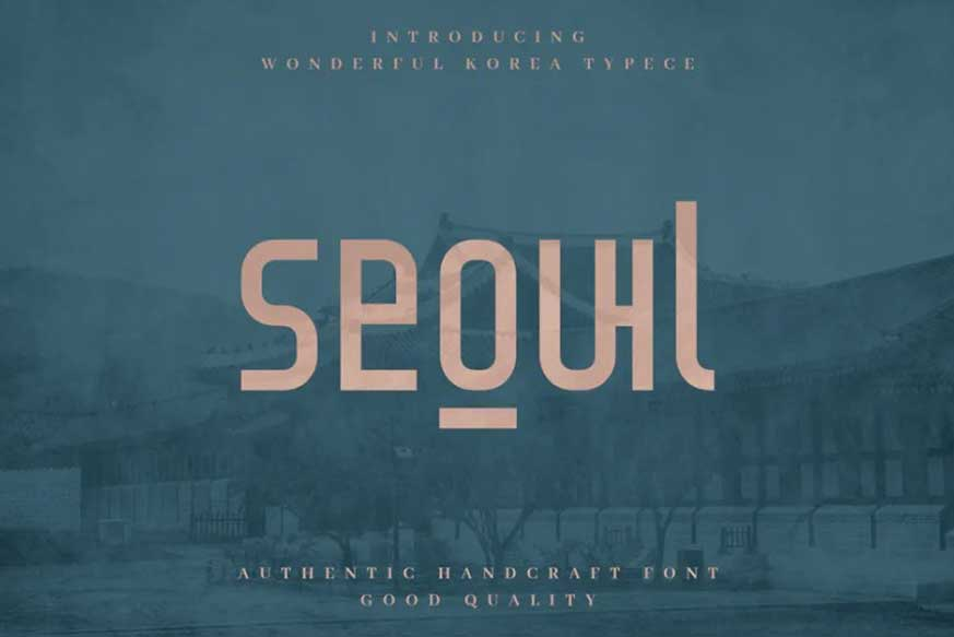 Seoul - Authentic Korean Typeface