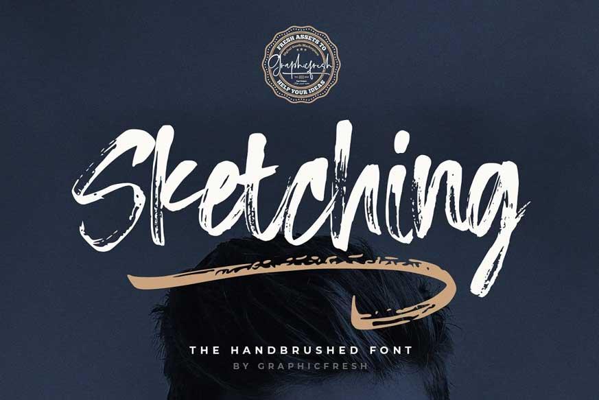 Sketching - The Handbrushed Typeface