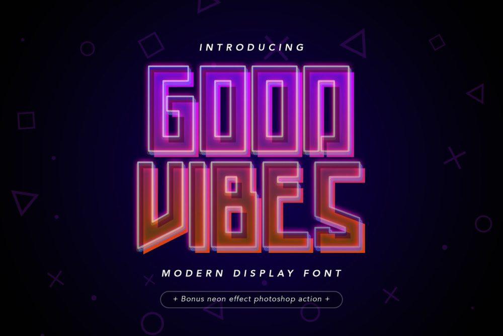 Good Vibes Modern Display Font