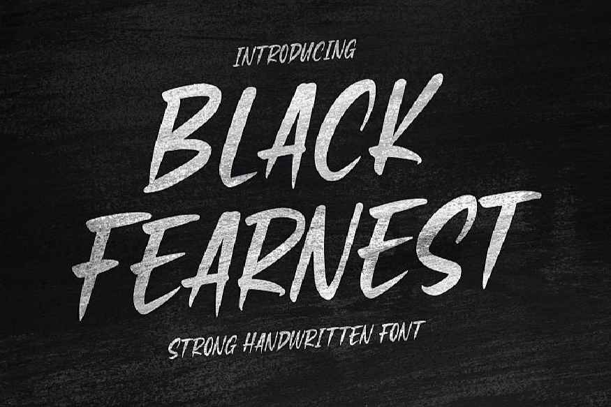 Black Fearnest - Strong Handwritten Font