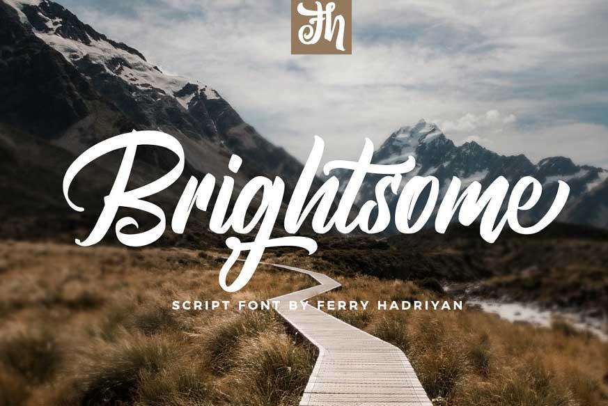 Brightsome - Script Font