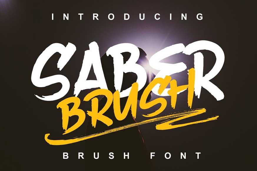 Saber Brush Font