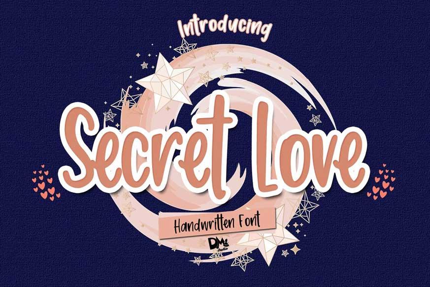 Secret Love - Handwritten Font