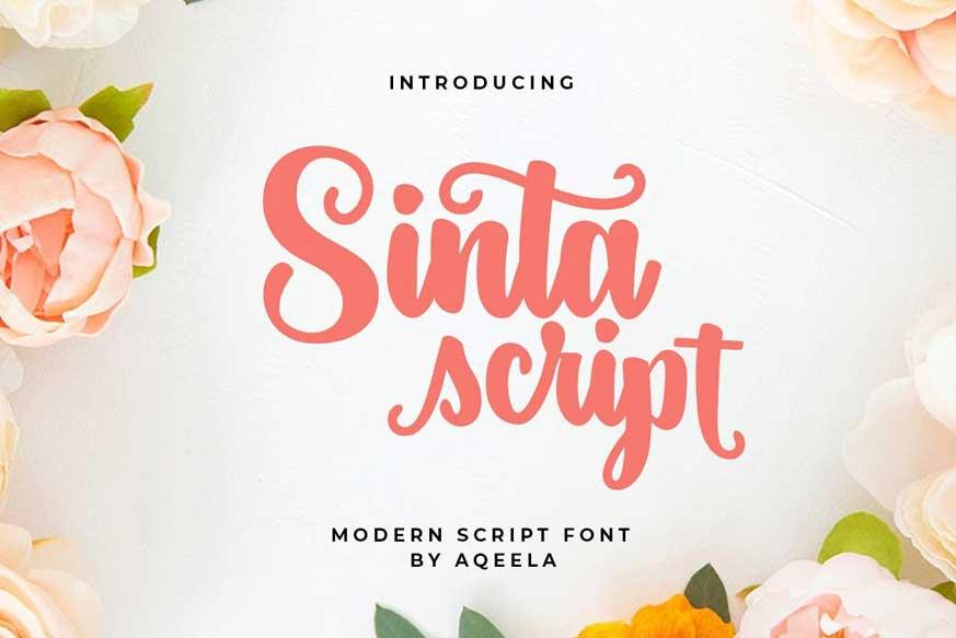Sinta Script Font