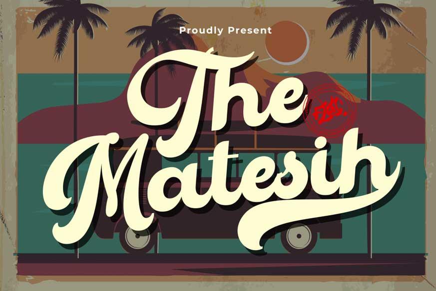 The Matesih Script Font