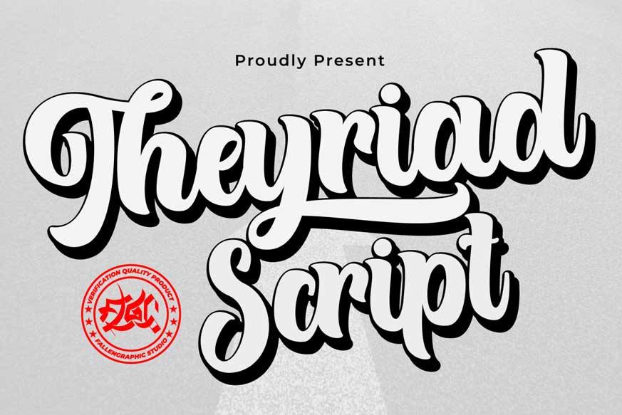Theyriad Script Font