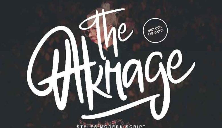 The Akrage Styles Modern Font