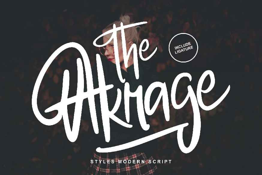 The Akrage Styles Modern Font
