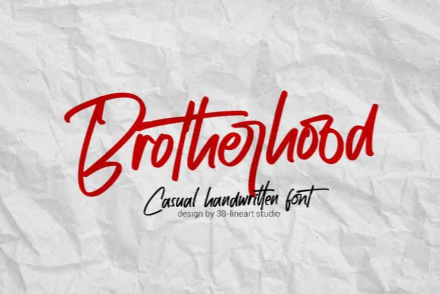 Brotherhood Casual Handwritten Font