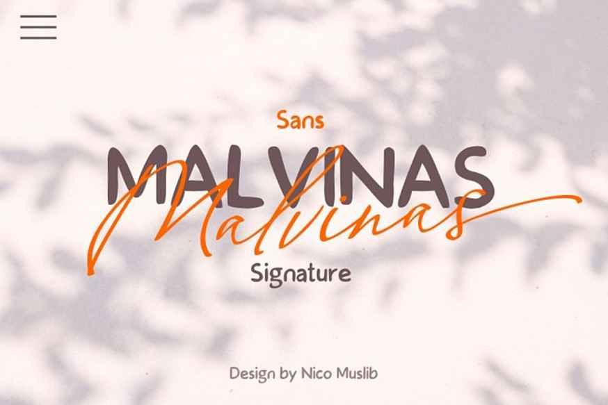 Malvinas Font Duo