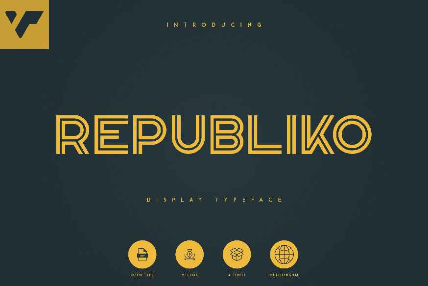 Republiko - Display Typeface