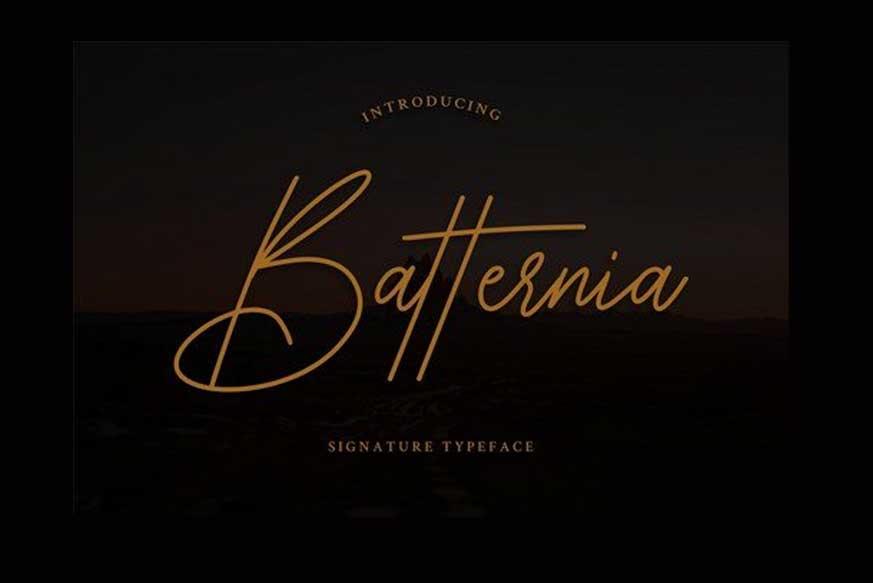 Batternia Handwritten Typeface