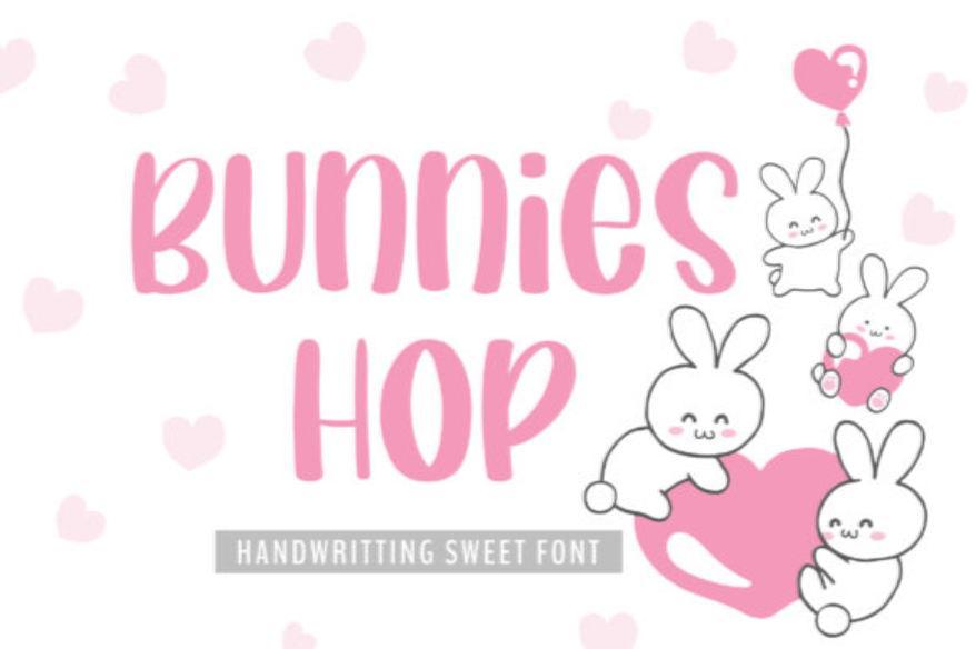 Bunnies Hop Font