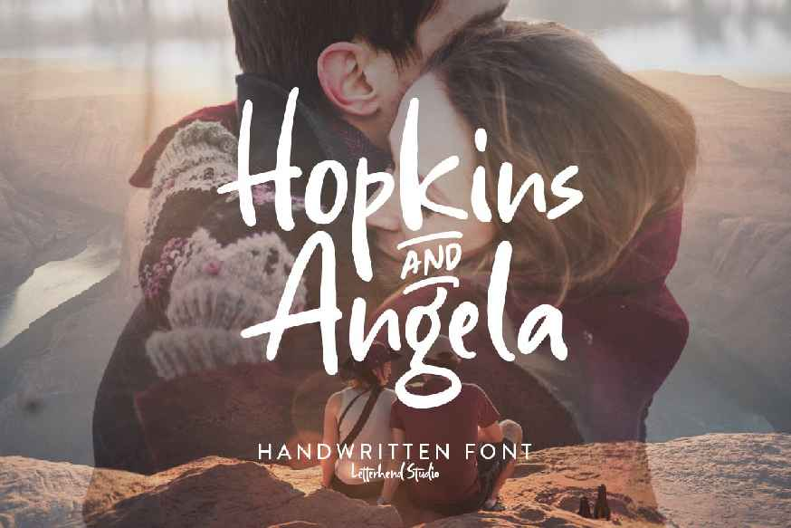 Hopkins Angela - Handwritten Font