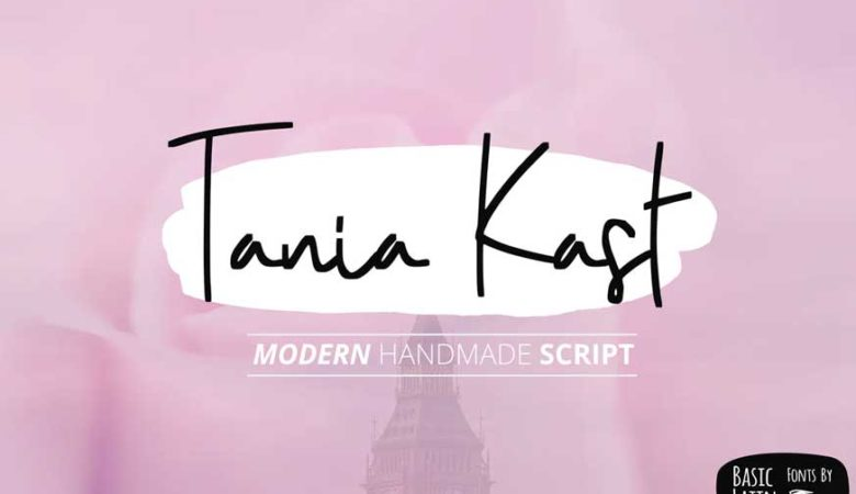 Tania Kast modern typeface