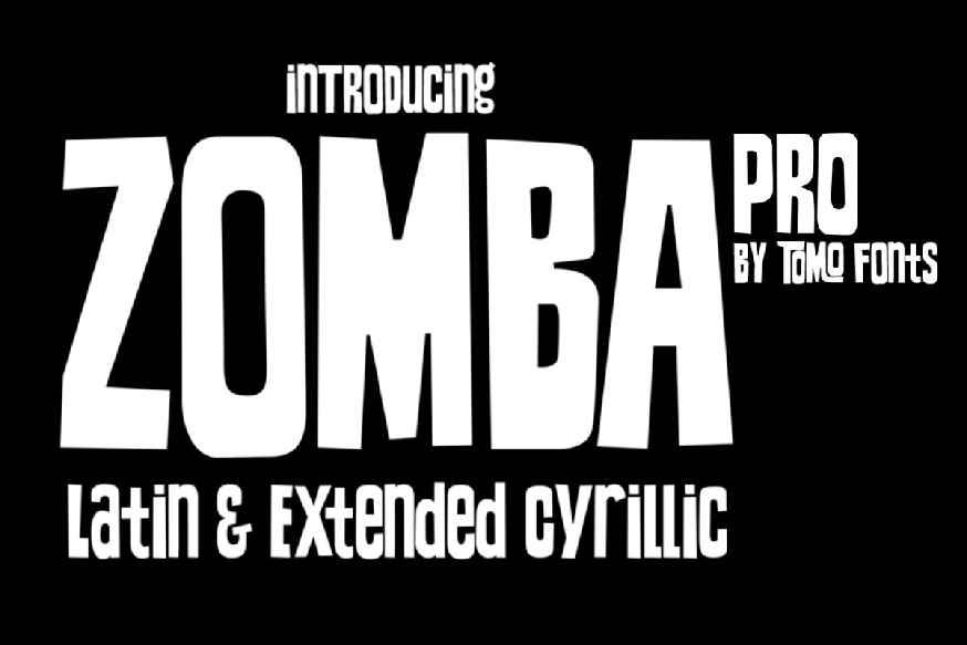 Zomba Pro Font