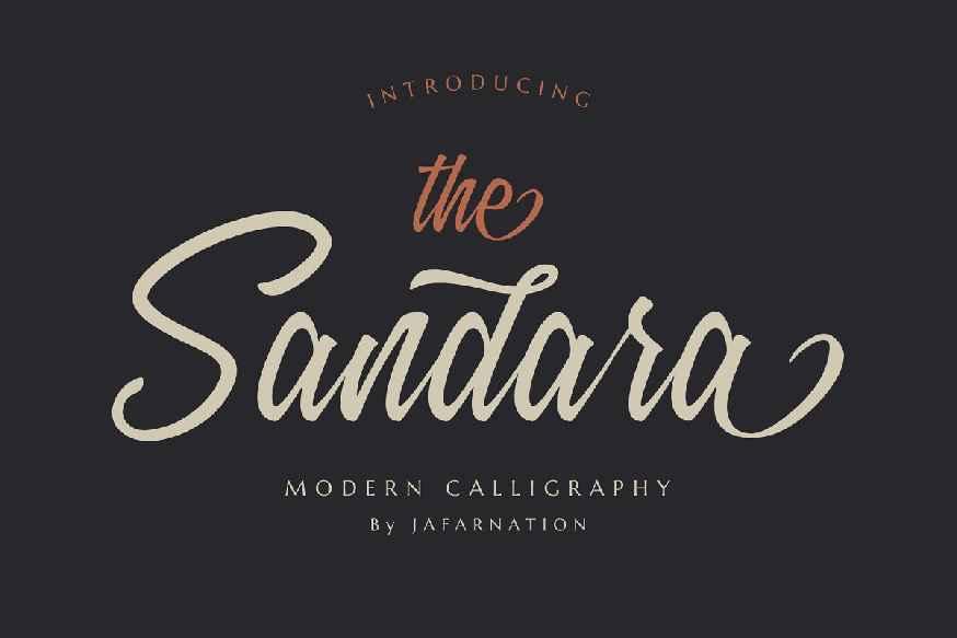 Sandara Script Font