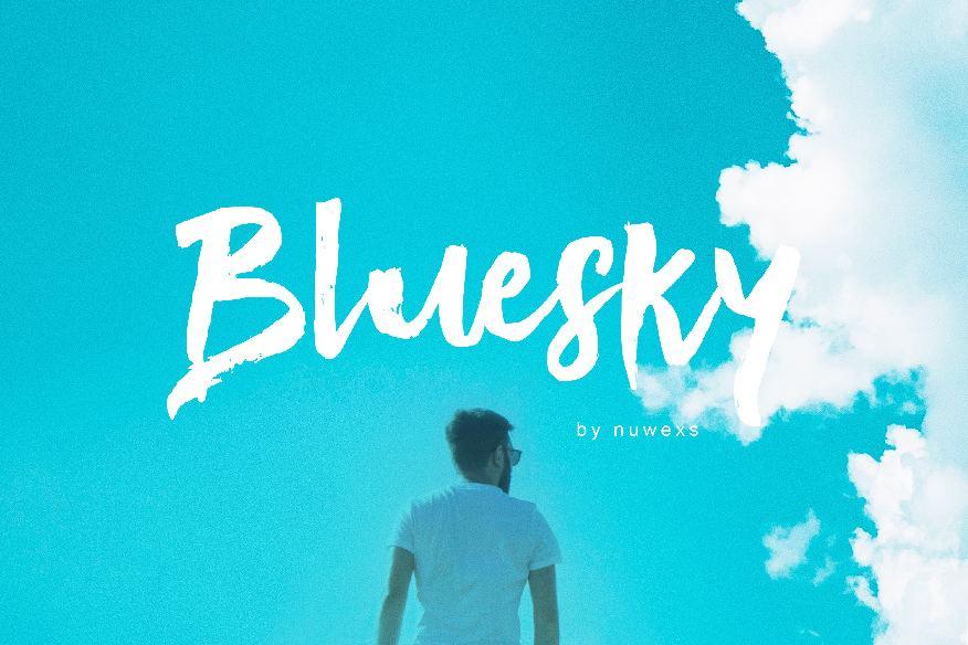 Bluesky Brush Font