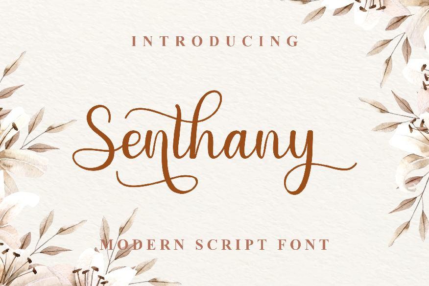 Senthany Font